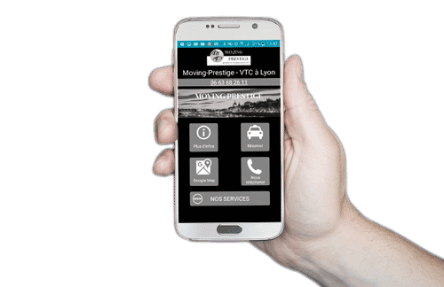 Application Android Moving Prestige VTC Lyon